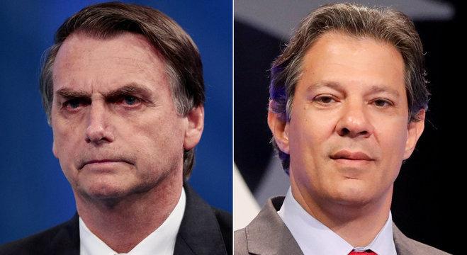 Jair Bolsonaro e Fernando Haddad repudiam violência na campanha