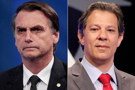 Bolsonaro e Haddad disputam eleição no próximo domingo