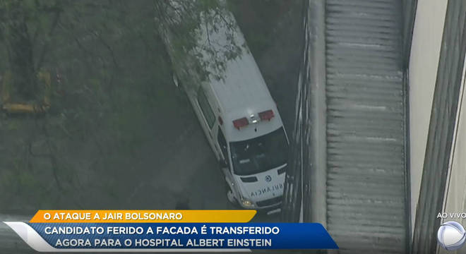 Bolsonaro foi transferido de Juiz de Fora para São Paulo