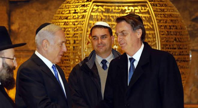 O presidente Jair Bolsonaro durante visita a Israel