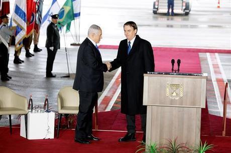 Bolsonaro é recebido por primeiro ministro em Israel