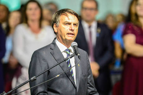 O presidente Jair Bolsonaro, que seria homenageado