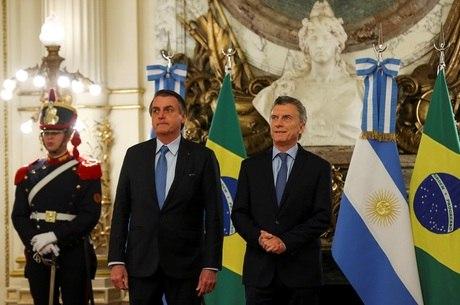 Bolsonaro chegou a Buenos Aires nesta quinta