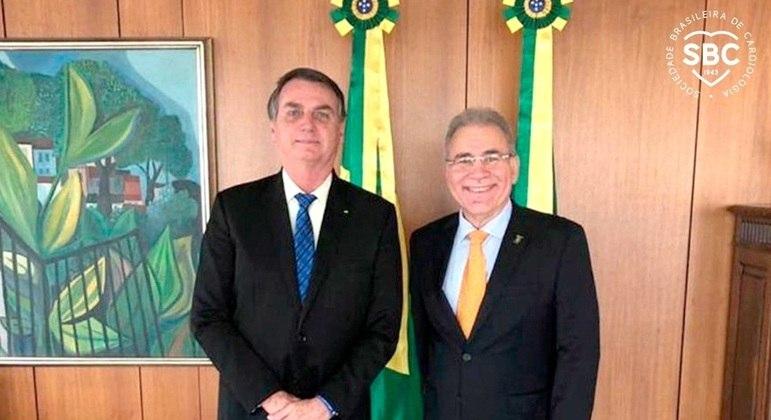 Marcelo Queiroga e o presidente Jair Bolsonaro, durante encontro em setembro do ano passado