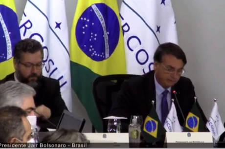 Bolsonaro defende Mercosul e ataca Maduro