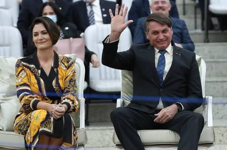 Bolsonaro e a primeira-dama participaram de culto