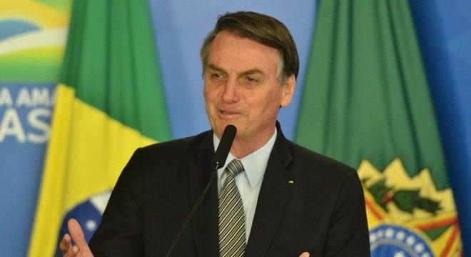 O presidente Jair Bolsonaro, que faz viagem à Ásia