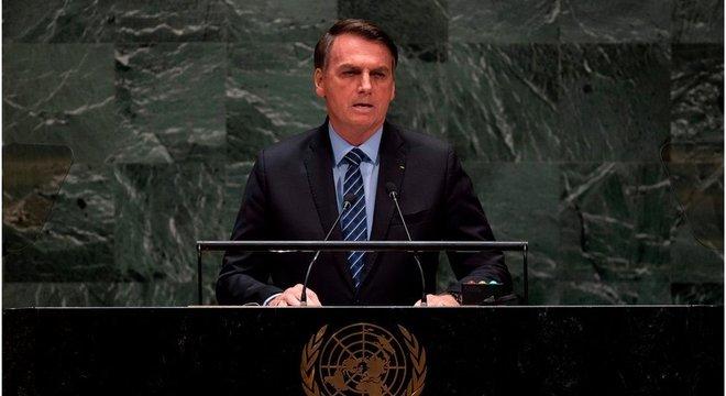 Jair Bolsonaro fez discurso inflamado na abertura da Assembleia-Geral da ONU