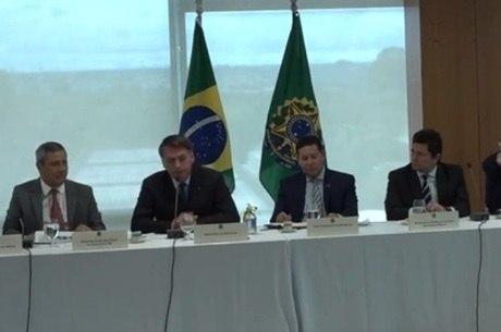 Reunião de Bolsonaro com ministros em abril