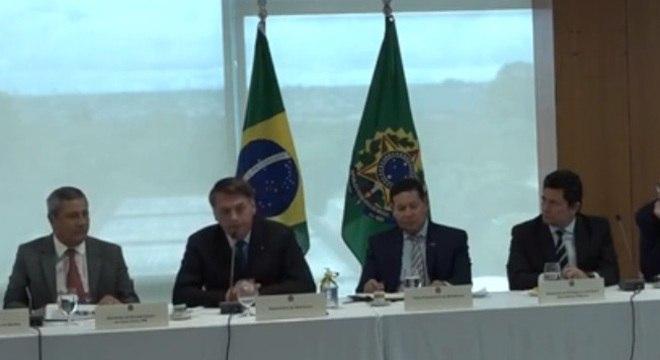 Reunião de Jair Bolsonaro e ministros no dia 22 de abril