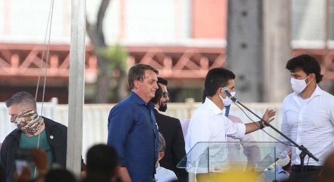 Bolsonaro participa de cerimônia de inauguração do Porto Futuro em Belém