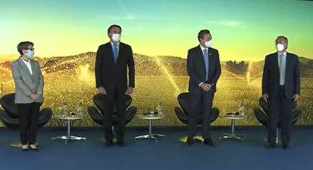 Bolsonaro participa de lançamento do Plano Safra, do Banco do Brasil, com Guedes e Tereza Cristina