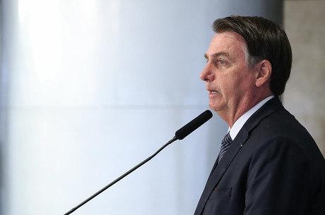 Bolsonaro durante evento em Brasília nesta quinta