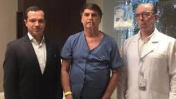 Bolsonaro aceita bem dieta cremosa e apresenta melhora, diz boletim médico (Reprodução/Twitter @jairbolsonaro)