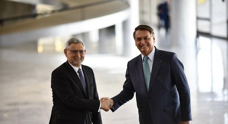 Bolsonaro recebe o presidente de Cabo Verde, Jorge Carlos Fonseca