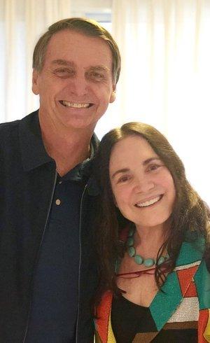 Regina Duarte com Bolsonaro