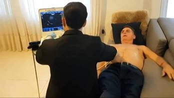 ___Domingo Espetacular_ mostra real estado de saúde de Jair Bolsonaro__ (Reprodução)