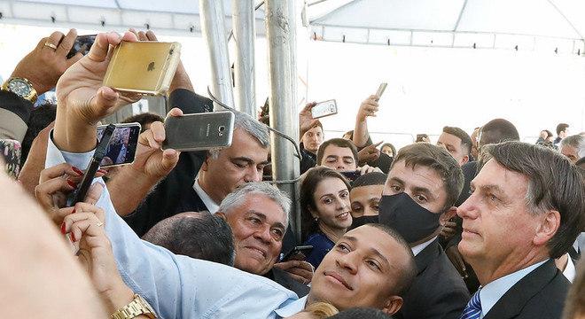 Bolsonaro participa de inauguração em posto da Polícia Rodoviária Federal, no Rio