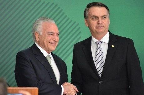 Bolsonaro se encontrou com Temer na quarta-feira