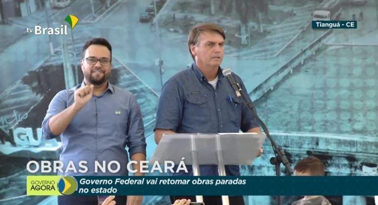 Bolsonaro autorizou retomada de obras paradas na região metropolitana de Fortaleza (CE)