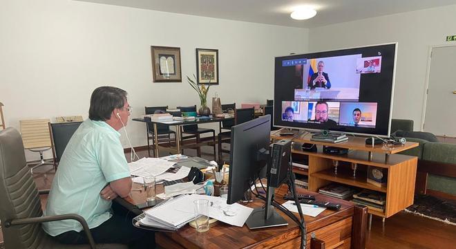 Sala do Alvorada foi redesenhada e recebeu equipamentos para videoconferências