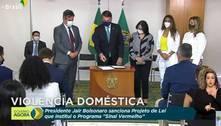 Bolsonaro sanciona lei do Sinal Vermelho de violência doméstica