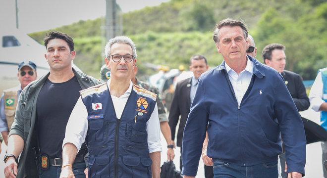 Bolsonaro encontrou governador de Minas e sobrevoou Grande BH