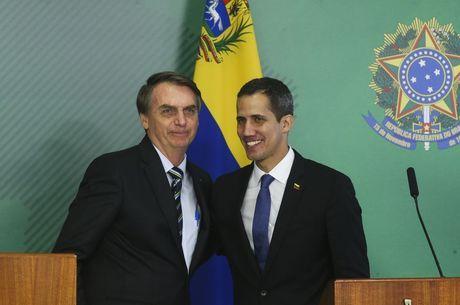Guaidó em visita ao Brasil em fevereiro de 2019