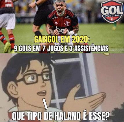 Bom início de ano de Gabigol tem gerado memes nas redes sociais