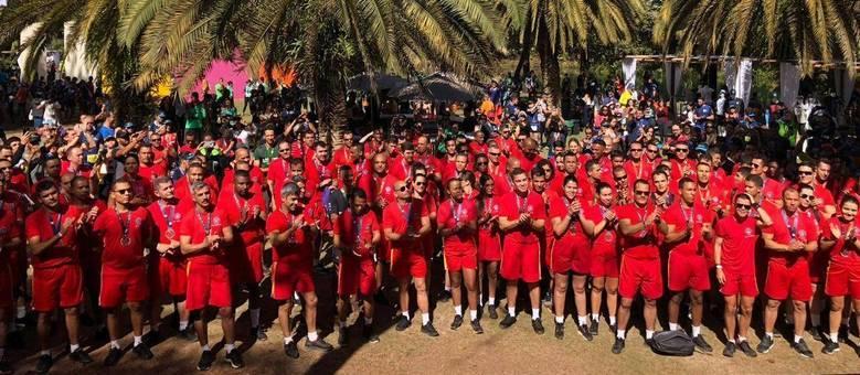Cerca de 120 oficiais participaram da corrida no Museu Inhotim
