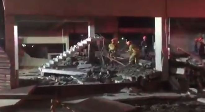 Corpo do operário foi encontrado em meio aos escombros de obra