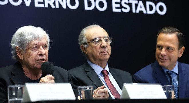 Boni, Maluf e Doria em evento para anunciar nova gestão da TV Cultura
