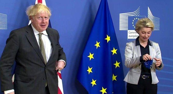 Jantar em Bruxelas entre Boris Johnson e Ursula von der Leyen não foi bem-sucedido
