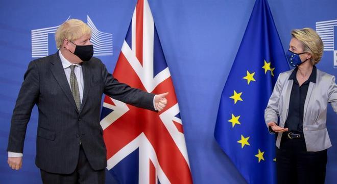 Boris Johnson e Ursula von der Leyen se reuniram em Bruxelas, na Bélgica