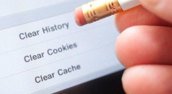 Há coisas que podem ser feitas para manter o anonimato - como apagar o seu histórico de navegação