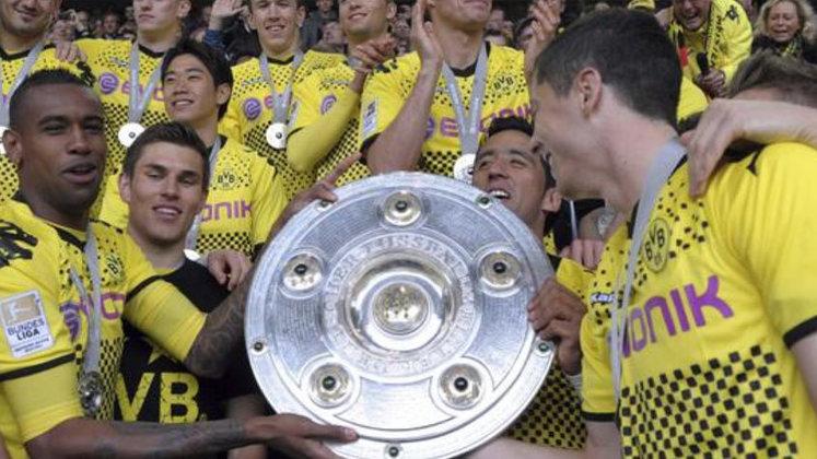 Borussa Dortmund (7 títulos) - O Borussia Dortmund ganhou 2 vezes a Bundesliga, 2 vezes a Copa da Alemanha e 3 vezes a Supercopa da Alemanha.