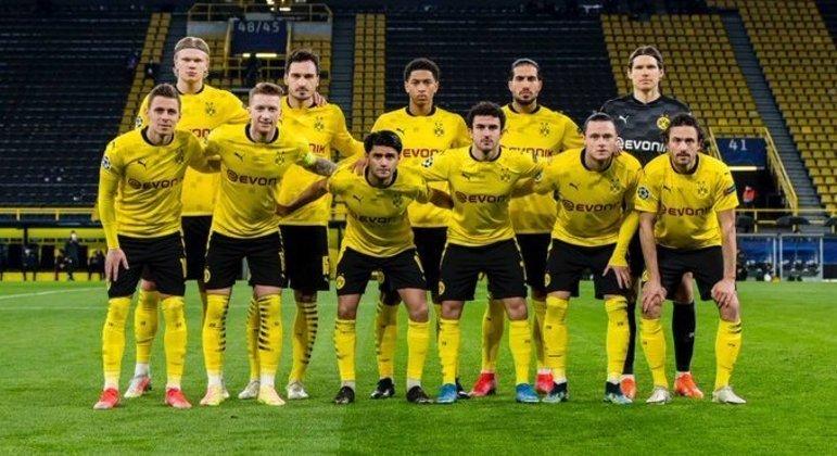A formação do Borussia Dortmund, que eliminou o Sevilla