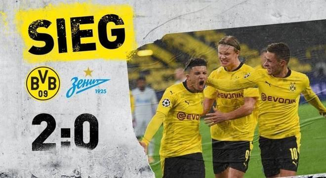 A capa do Twitter do Borussia Dortmund