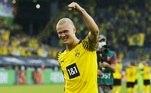No sábado, o atacante norueguêsErling Haaland marcou dois gols na grande vitória por 5 a 2 do Borussia Dortmund sobre oEintracht Frankfurt, noWestfalenstadion, pela primeira rodada do Campeonato Alemão