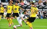 No clássico dos 'Borussias', melhor para o Monchengladbach. Jogando em casa, a equipe venceu o Dortmund por 1 a 0, com gol de Zakaria
