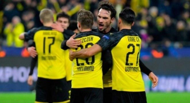 Borussia Dortmund x PSG - Comemoração