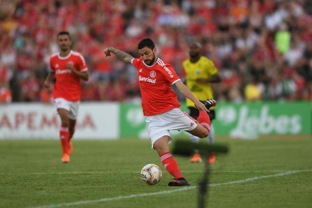 Boschilia - Clube: Internacional - Posição: Meia - Idade: 25 anos - Jogos completados no Brasileirão 2021: 3 jogos - Situação no clube: Reserva com poucas oportunidades