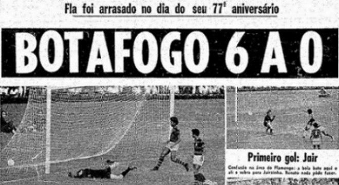 A manchete da goleada sofrida pelo Fla no clássico