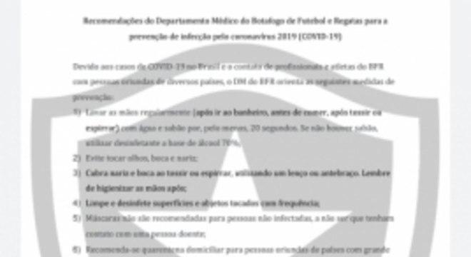 Botafogo - Coronavírus