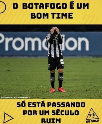 Botafogo é goleado pelo São Paulo e vira piada na web