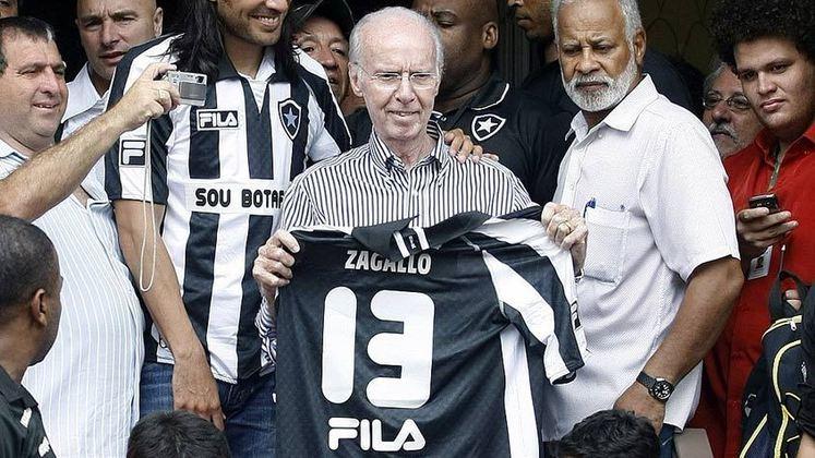 Botafogo: Zagallo – Ídolo como jogador, o Velho Lobo também fez história como treinador. Teve passagens como técnico da equipe entre 1967 e 1970, entre 1974 e 1975, 1977 e 1978 e 1986. No total, foram seis anos e 65 dias sob comando do Glorioso.