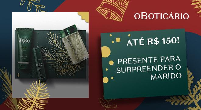 Kit Presente Natal Arbo: Desodorante Colônia 100ml + Body Spray 100ml + Shower Gel 200g
