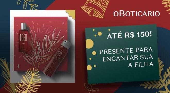 Kit Presente Natal Egeo Red: Desodorante Colônia 50ml + Antitranspirante 75g