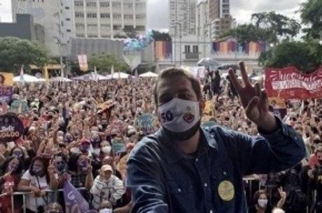 Evento do candidato do PSOL, em Pinheiros