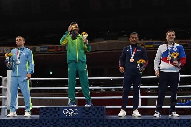 BOXE - Hebert Conceição é o segundo brasileiro a conquistar o ouro em Olimpíadas. Ele igualou o feito de Robson Conceição, no Rio-2016.